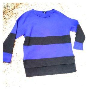Eileen Fisher Purple Grey Striped Yak Wool S